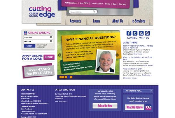 Cutting Edge Credit Union Website