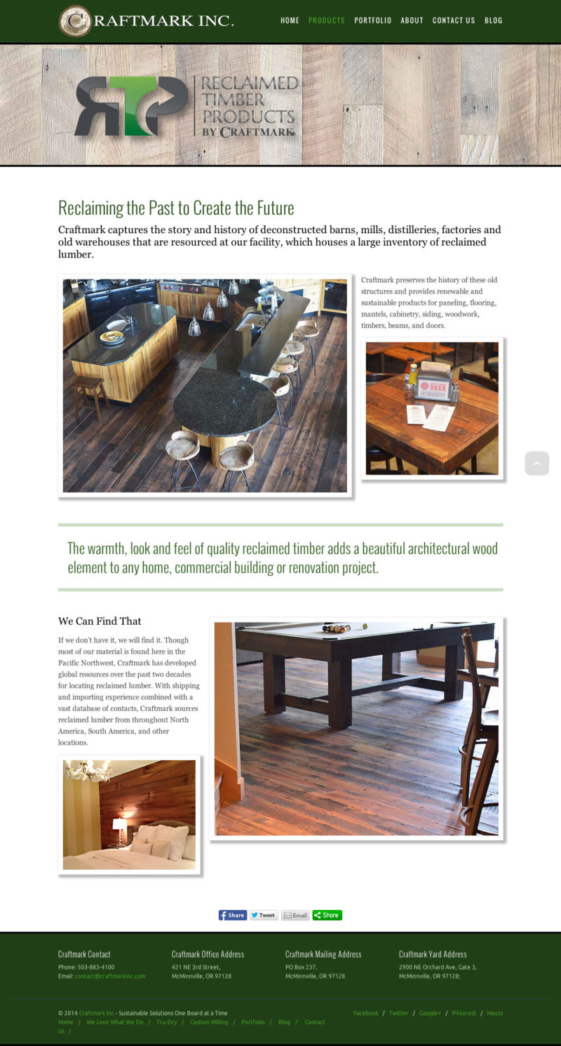 CraftMark Wood Products Website | Red Barn Design | Design And Marketing  Strategies