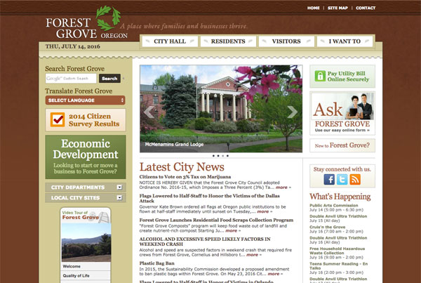 City of Forest Grove Website