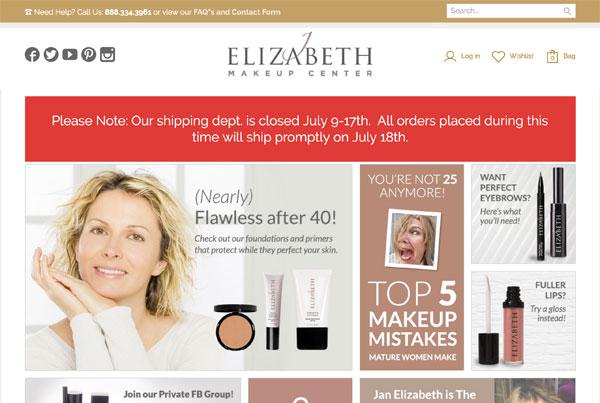 J Elizabeth Makeup Center Website