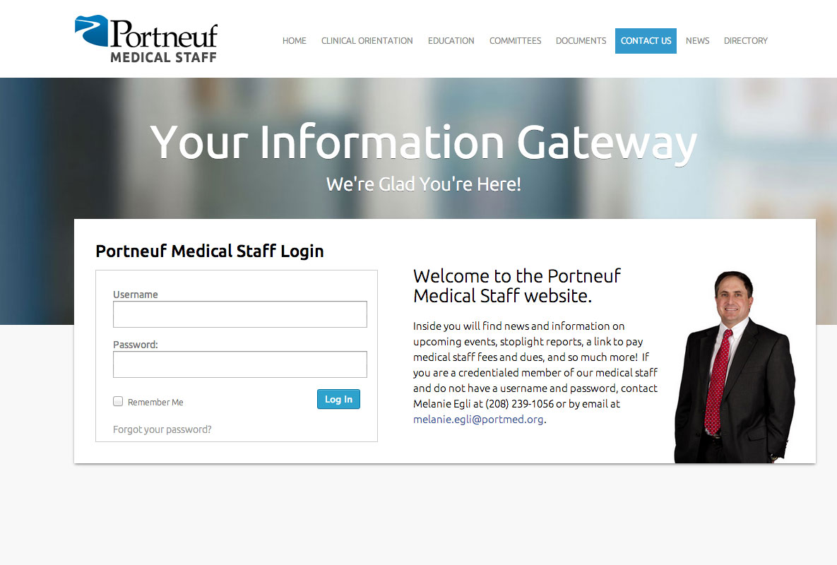 Portneuf Medical Center Staff Website