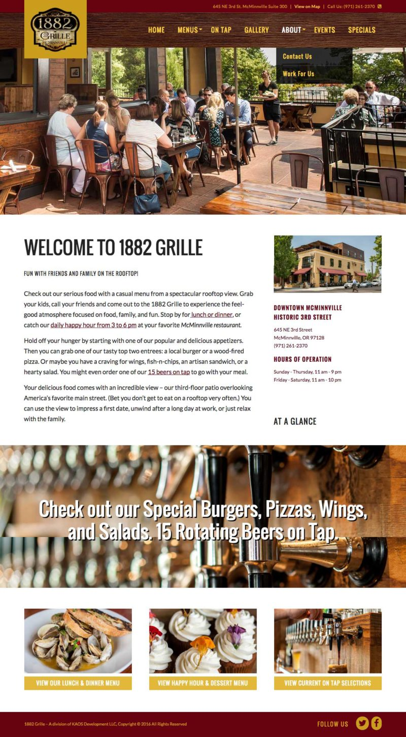 1882 Grill Home