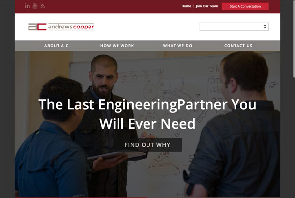 Andrews Cooper Engineering Website