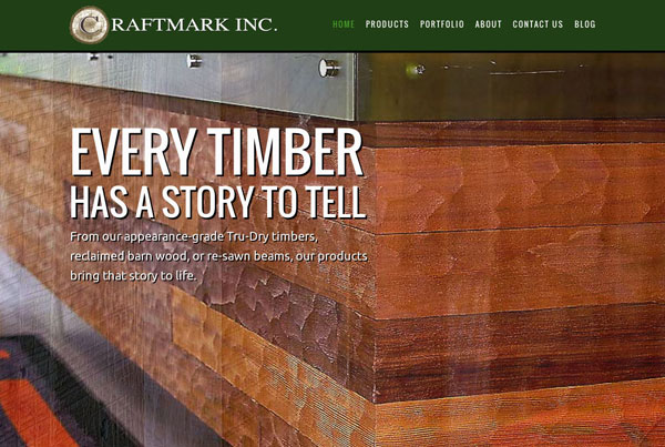 CraftMark Wood Products Website