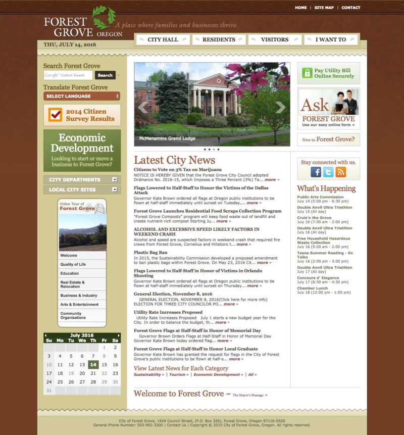 City of Forest Grove Home Page