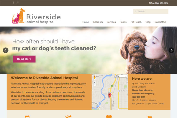 Riverside Animal Hospital Website